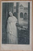 Ave Maria F. Delbrück Nonne Kloster Geige Moderne Galerie - Malerei & Gemälde
