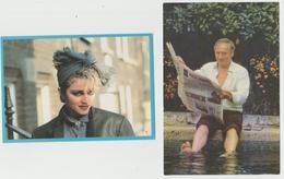 """5 Cartes Postales""""ACTEUR-CHANTEUR-CHANTEUSE-ARTISTE""""---MONTANT-MADONNA-STALLONE-GOLDMAN-"""" - Entertainers"""