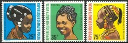 +Burkina Faso (Haute-Volta)  1972, 272-4, Coiffures Peulh, 3v, O - Haute-Volta (1958-1984)