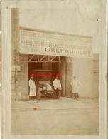 Chartres 1923-enseigne Droguerie GRENOUILLOT-Jean DELAMOTTE 22 Ans à Gauche - Métiers