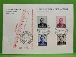Luxembourg, Antoine Zinnen, Caritas 1950 - Cartes Commémoratives