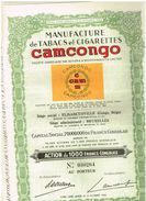 Titre Ancien- Manufacture De Tabac Et Cigarettes CAMCONGO - N° 030255 - Afrika