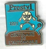 Pin's Voiture Automobile Prestyl 1991 Centenaire De L'automobile (bleu Clair) - Pin