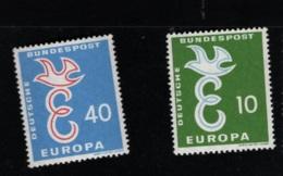 1958 13. Sept. Europa Mi DE 295 - 96 Sn DE 790 - 91 Yt DE 164 - 65 Sg DE 1212 - 13   Postfr. Xx - [7] République Fédérale
