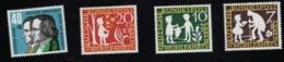 1959 1. Okt. Wohlfahrt Mi DE 322 - 25 Sn DE B368 - 71 Yt DE 195 - 98 Sg DE 1236 - 39  Postfr. Xx - [7] République Fédérale