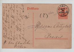 CBPND51/ Entier CP 14/18 C.Relais - Etoile Nethen 1918 Censure > Braives - Marcophilie