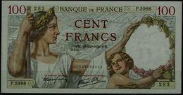 FRANCE 1939 BANKNOTES 100FR VF!! - 1871-1952 Antichi Franchi Circolanti Nel XX Secolo