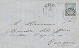 LETTERA CIRCA 1866 20 C. SS FERRO CAVALLO TIMBRO S.REMO (KX83 - 1861-78 Victor Emmanuel II
