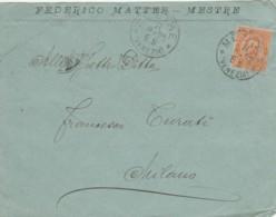 LETTERA 1895 C.20 TIMBRO MESTRE VENEZIA (KX104 - Marcophilie