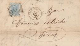 LETTERA 1871 20 C. TIMBRO OLEGGIO TORINO (KX245 - 1861-78 Victor Emmanuel II.