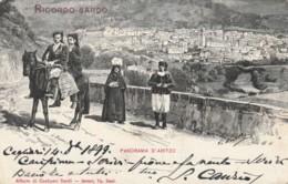 CARTOLINA 1898 10 C. PANORAMA D'ARITZO (NUORO) -TIP.DESSI SASSARI (KX281 - Nuoro