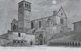 CARTOLINA ASSISI 1901 VIAGGIATA -ALTEROCCA TERNI (KX311 - Italy
