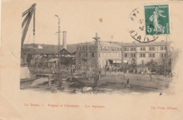 CARTOLINA 1909 FRANCIA - LA SEYNE -FORGES ET CHANTIERS-LES BBUREAUX (KX325 - La Seyne-sur-Mer