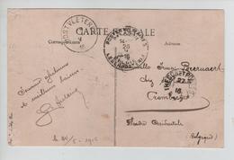 CBPND52/ CP Rousbrugge-Haringhe Animée Péniche C.trésor&Postes 1915 > Crombeeke C.PMB-BLP 28/5/16 & Oostvletere 29/5/16 - Belgische Armee
