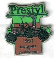 Pin's Voiture Automobile Prestyl 1991 Centenaire De L'automobile Tacot (vert Et Marron) - Pin