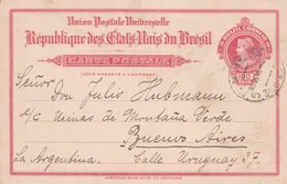 BRASIL - ENTIRE POSTAL CARD CIRCULATED 1916 RIO DE JANEIRO TO BUENOS AIRES, ARGENTINA -LILHU - Postwaardestukken