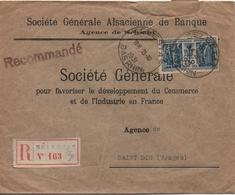 FRANCE  LETTRE RECOMMANDEE   DE SELESTAT  CACHET  1931 - France