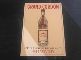 A BUVARD Ancien EAU DE VIE GRAND CORDON PELLISSON - Blotters