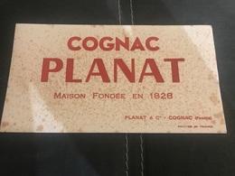 A BUVARD Ancien COGNAC PLANAT 1828 - Blotters