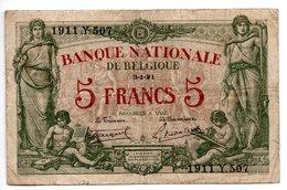 Belgique / 5 Francs / 3-1-21 / TB- - [ 2] 1831-... : Reino De Bélgica