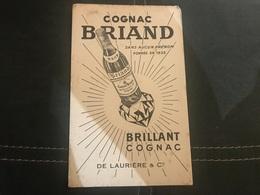 A BUVARD Ancien COGNAC BRIAND DE LAURIERE - Blotters