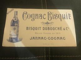 A BUVARD Ancien COGNAC BISQUIT DUBOUCHE 1819 JARNAC - Blotters