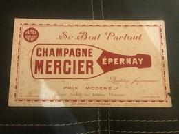 A BUVARD Ancien CHAMPAGNE MERCIER EPERNAY - Blotters