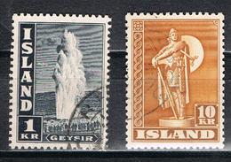 Island 239/240 C - Dauermarken 1945 Mit Weiter Zähnung 11 1/2 - Usati