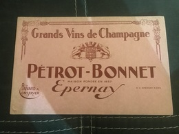 A BUVARD Ancien VIN DE CHAMPAGNE PERROT BONNET EPERNAY - Blotters