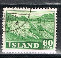 Island 265 Gestempelt - 60 Aurar Schafzucht 1950 - Usati