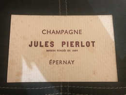 A BUVARD Ancien CHAMPAGNE JULES PIERLOT EPERNAY 1889 - Blotters