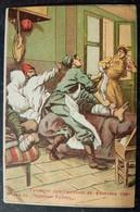 1913 Balkan War Bulgaria Red Cross - Ottoman Turkey Back Stabber Dagger Traitor Color Postcard - Guerres - Autres