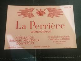 A BUVARD Ancien CHAMPAGNE GRAND CRÉMANT LA PERRIERE ST CYR EN BOURG - Blotters
