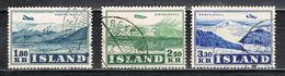 Island 278/280 Gestempelt - Flugzeuge 1952 - Poste Aérienne