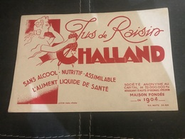 A BUVARD Ancien JUS DE RAISIN CHALLAND CÔTE D'OR - Blotters