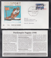 A 101 ) BRD / Germany 1998 FDC + Beschreibung - Paralympics Nagano - Winter (Other)
