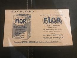 A BUVARD Ancien SAVON EN PÉTALES FLOR JACOTIN BINOCHE BILLANCOURT - Blotters
