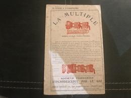 A BUVARD ANCIEN LA MULTIPLE SOCIÉTÉ FRANÇAISE D'INCANDESCENCE PARIS - Blotters
