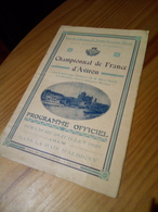 ANNECY CLUB NAUTIQUE CHAMPIONNAT DE FRANCE 1929 PROGRAMME OFFICIEL BAIE D'ALBIGNY - Remo