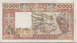 WEST AFRICAN STATES P. 709Kd 10000 F 1992 F - Senegal