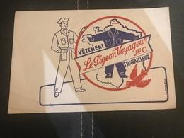 A BUVARD Ancien VÊTEMENT TRAVAILLEUR LE PIGEON VOYAGEUR AFC - Blotters