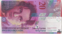 Suisse 20 Francs (P69h) 2014 (Pref: N) -UNC- - Schweiz