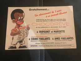 A BUVARD Ancien CHOCOREVE FRIPOUNET MARISETTE CŒURS VAILLANT MANDICOURT - Blotters