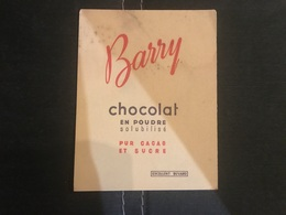 A BUVARD Ancien CHOCOLAT BARRY - Blotters