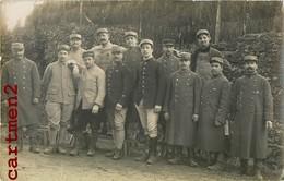 2 CARTE PHOTO : LE BLANC INDRE LE 68eme REGIMENT SOLDATS MILITAIRES GUERRE MILITARIA POILUS - Le Blanc