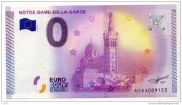 2015-1 BILLET TOURISTIQUE 0 EURO SOUVENIR N° UEAA005675 NOTRE DAME DE LA GARDE - EURO