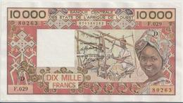 WEST AFRICAN STATES P. 408De 10000 F 1987 AUNC - Malí
