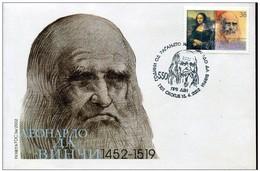 REPUBLIC OF MACEDONIA, 2002, STAMP, MICHEL 252 - LEONARDO DA VINCI (1452-1519) ** - Macedonië