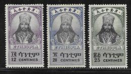 Ethiopia Scott #253-5 MNH Selassie, 1942-3 - Ethiopia