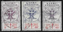 Ethiopia Scott # B27, B30-1 Used  Tree, Staff, Snake, 1958 - Ethiopia